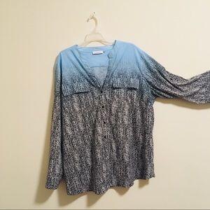 Calvin Klein Ombré Button Up Shirt 3X